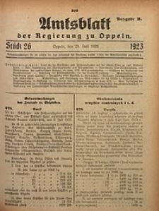 Amtsblatt der Regierung zu Oppeln, 1923, Bd. 108, St. 26