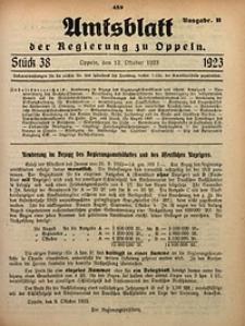 Amtsblatt der Regierung zu Oppeln, 1923, Bd. 108, St. 38