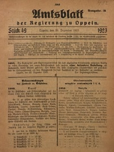 Amtsblatt der Regierung zu Oppeln, 1923, Bd. 108, St. 49