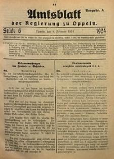 Amtsblatt der Regierung zu Oppeln, 1924, Bd. 109, St. 6