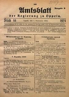 Amtsblatt der Regierung zu Oppeln, 1924, Bd. 109, St. 44