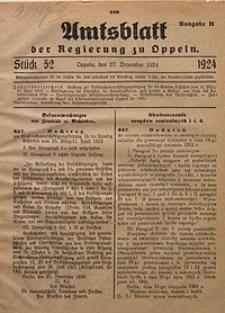 Amtsblatt der Regierung zu Oppeln, 1924, Bd. 109, St. 52