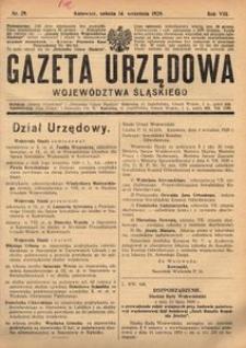 Gazeta Urzędowa Województwa Śląskiego, 1929, R. 8, nr 29
