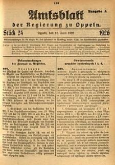 Amtsblatt der Regierung zu Oppeln, 1926, Bd. 111, St. 24