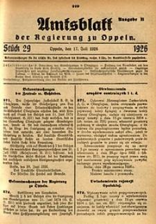 Amtsblatt der Regierung zu Oppeln, 1926, Bd. 111, St. 29