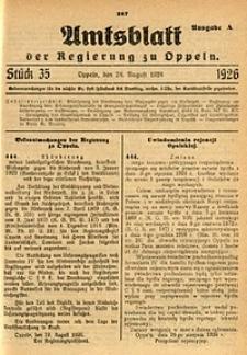 Amtsblatt der Regierung zu Oppeln, 1926, Bd. 111, St. 35