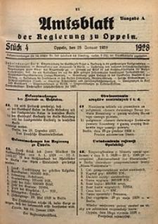 Amtsblatt der Regierung zu Oppeln, 1928, Bd. 113, St. 4