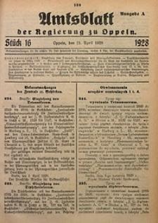 Amtsblatt der Regierung zu Oppeln, 1928, Bd. 113, St. 16