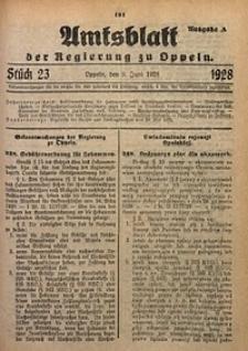 Amtsblatt der Regierung zu Oppeln, 1928, Bd. 113, St. 23