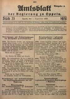 Amtsblatt der Regierung zu Oppeln, 1928, Bd. 113, St. 35