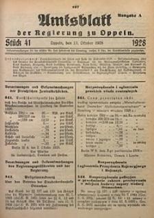 Amtsblatt der Regierung zu Oppeln, 1928, Bd. 113, St. 41