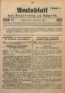 Amtsblatt der Regierung zu Oppeln, 1928, Bd. 113, St. 47