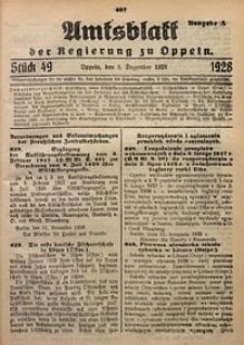 Amtsblatt der Regierung zu Oppeln, 1928, Bd. 113, St. 49