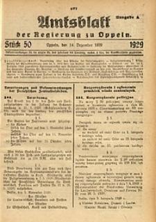 Amtsblatt der Regierung zu Oppeln, 1929, Bd. 114, St. 50