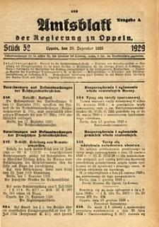 Amtsblatt der Regierung zu Oppeln, 1929, Bd. 114, St. 52