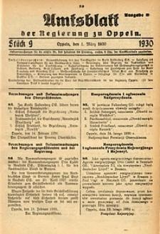 Amtsblatt der Regierung zu Oppeln, 1930, Bd. 115, St. 9