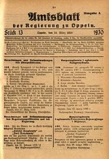 Amtsblatt der Regierung zu Oppeln, 1930, Bd. 115, St. 13