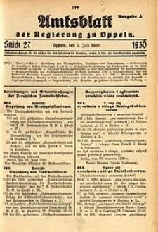 Amtsblatt der Regierung zu Oppeln, 1930, Bd. 115, St. 27