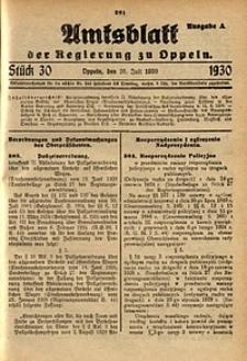 Amtsblatt der Regierung zu Oppeln, 1930, Bd. 115, St. 30