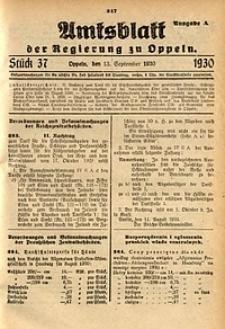 Amtsblatt der Regierung zu Oppeln, 1930, Bd. 115, St. 37