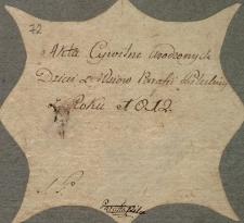 Księga urodzeń Pilica – wieś 1812