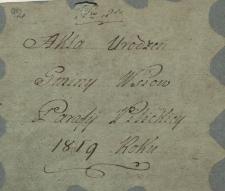 Księga urodzeń Pilica – wieś 1819