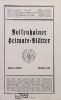 Bolkenhainer Heimats-Blätter, Jg. 10, 1924, September