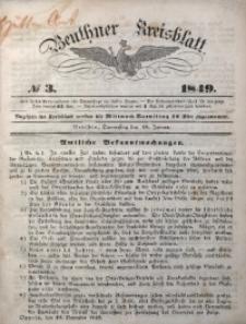 Beuthner Kreisblatt, 1849, No 3