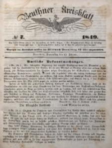 Beuthner Kreisblatt, 1849, No 7