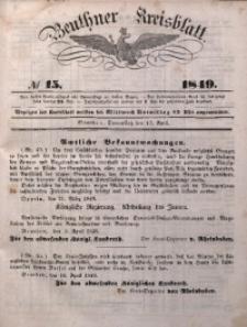 Beuthner Kreisblatt, 1849, No 15