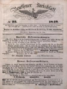 Beuthner Kreisblatt, 1849, No 22