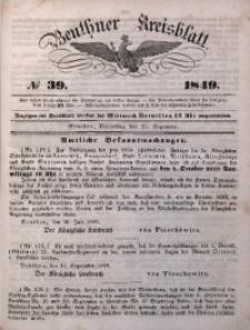 Beuthner Kreisblatt, 1849, No 39