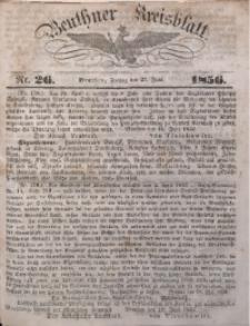 Beuthner Kreisblatt, 1856, Nr. 26