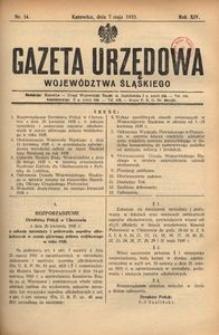 Gazeta Urzędowa Województwa Śląskiego, 1935, R. 14, nr 14