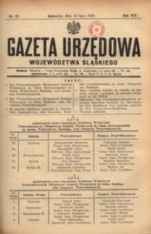 Gazeta Urzędowa Województwa Śląskiego, 1935, R. 14, nr 23