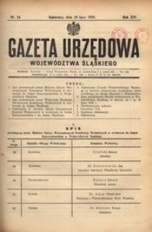 Gazeta Urzędowa Województwa Śląskiego, 1935, R. 14, nr 24