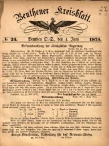Beuthener Kreisbatt, 1875, No 23