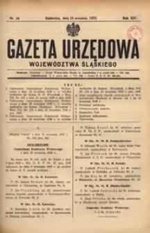 Gazeta Urzędowa Województwa Śląskiego, 1935, R. 14, nr 35