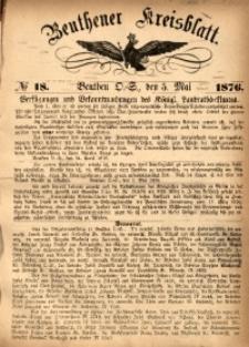 Beuthener Kreisbatt, 1876, No 18
