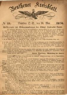Beuthener Kreisbatt, 1876, No 21