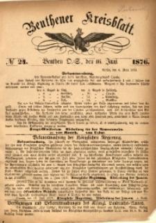 Beuthener Kreisbatt, 1876, No 24