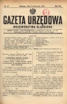 Gazeta Urzędowa Województwa Śląskiego, 1935, R. 14, nr 37