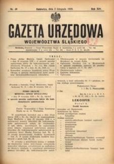 Gazeta Urzędowa Województwa Śląskiego, 1935, R. 14, nr 39