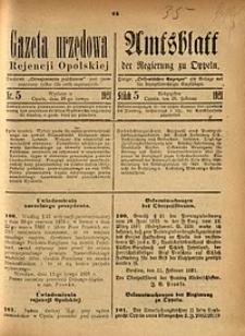 Gazeta Urzędowa Rejencji Opolskiej, 1921, Nr. 5