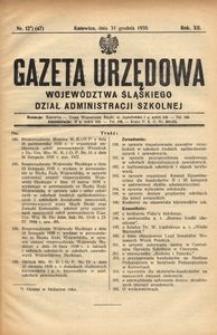 Dział Administracji Szkolnej, 1935, R. 12, nr 12 (47)