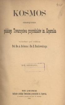 Kosmos, 1891, R. 16