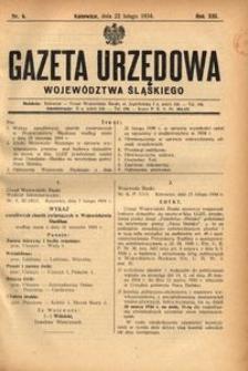 Gazeta Urzędowa Województwa Śląskiego, 1934, R. 13, nr 6