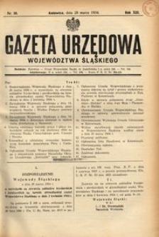 Gazeta Urzędowa Województwa Śląskiego, 1934, R. 13, nr 10