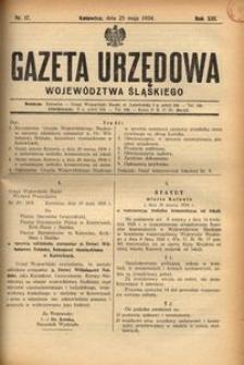 Gazeta Urzędowa Województwa Śląskiego, 1934, R. 13, nr 17