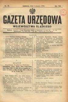 Gazeta Urzędowa Województwa Śląskiego, 1934, R. 13, nr 25